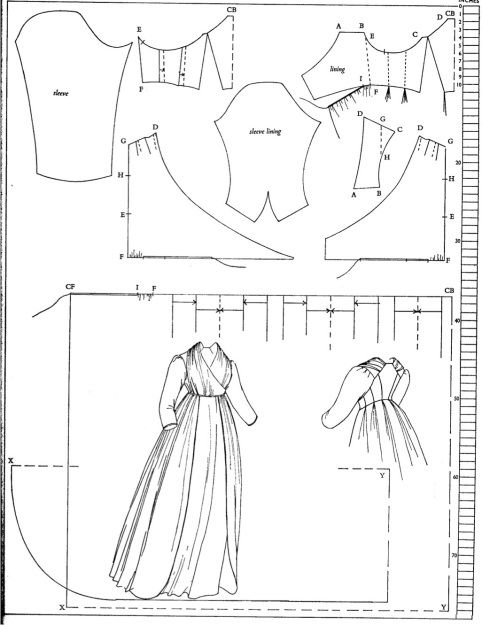 White Cotton 1797 Gown