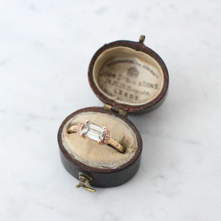 Pink Sapphire Crescent Ring | Vasa NY