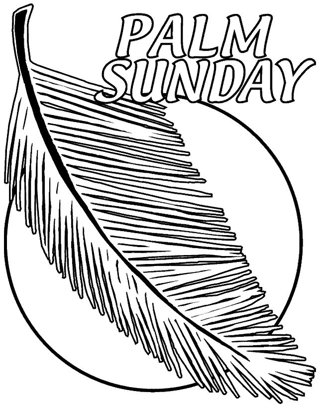 Coloring Pages For Palm Sunday : Best palm sunday images on pinterest