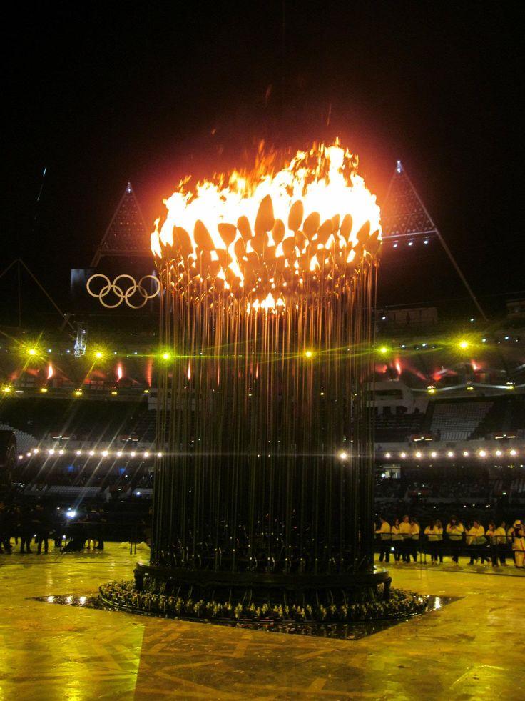 London 2012 Olympic Cauldron after the Opening Ceremony. Photo: ©Ursula Petula Barzey.