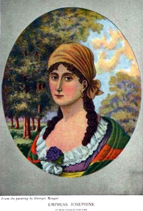 Георг Руже. Императрица Жозефина в национальном костюме (с фиалками)