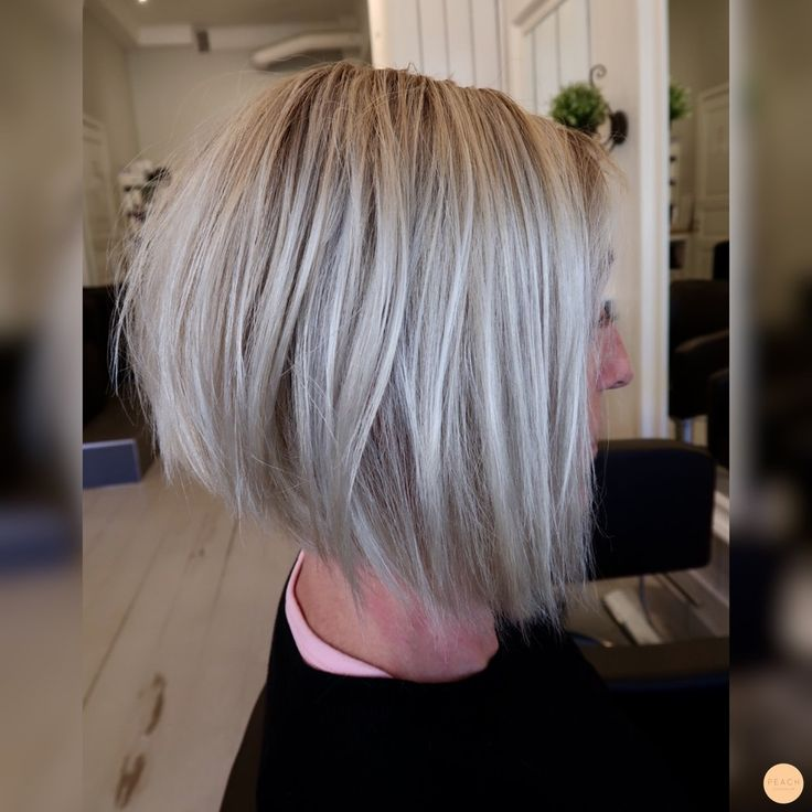 Blunt Bob with ashy blonde highlights