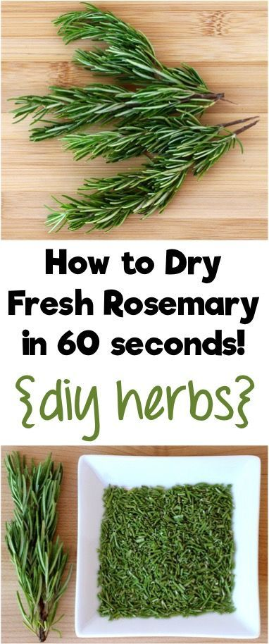 How to Dry Fresh Rosemary in 60 Seconds!  Turn your homegrown herbs into DIY Herbs for your cupboard with this simple little trick from TheFrugalGirls.com