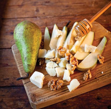 Pears with Honey and Cheese This delightful appetiser can be enjoyed as a dinner party starter or finale.