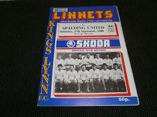 Kings Lynn v Spalding United 1988/89