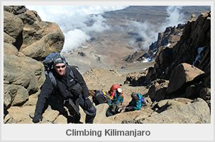This is the view from half way up the Western breach on Kilimanjaro. The route is considered the most difficult on Kilimanjaro. Acclimatisation is a problem