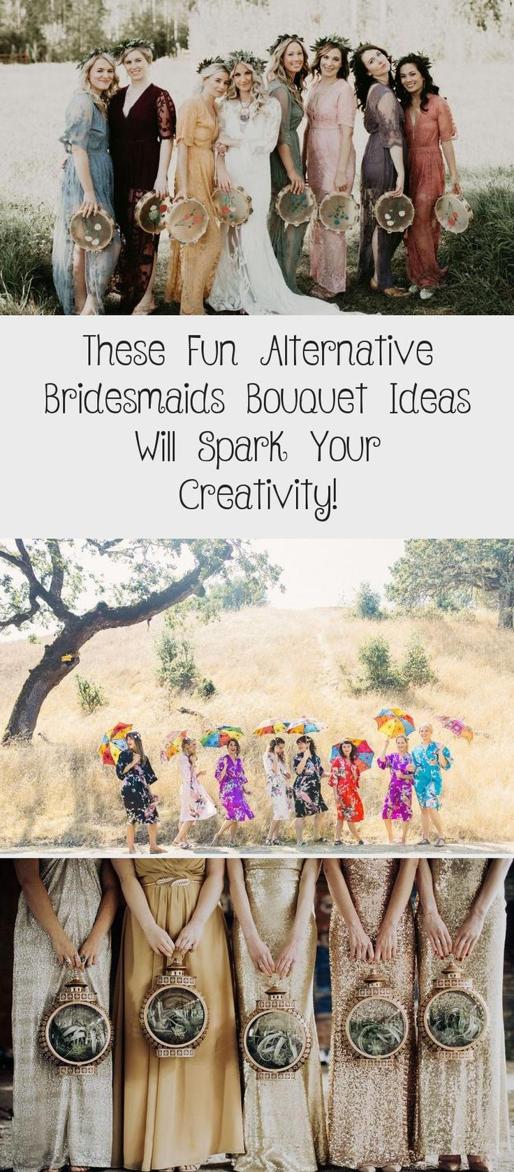 These Fun Alternative Bridesmaids Bouquet Ideas Will Spark Your Creativity! - Green Wedding Shoes #OffTheShoulderBridesmaidDresses #BridesmaidDressesSequin #MaroonBridesmaidDresses #BridesmaidDressesPlusSize #BridesmaidDressesCoral