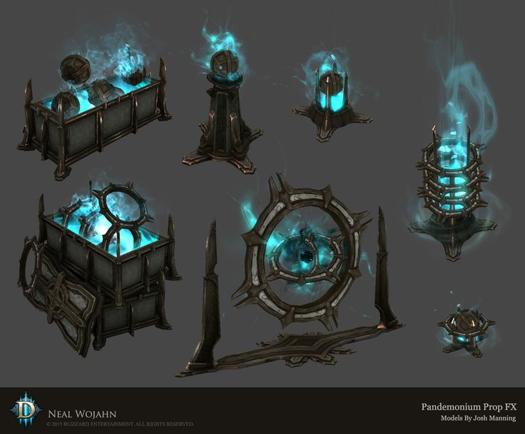 Diablo 3 Pandemonium Prop FX, Neal Wojahn on ArtStation at…