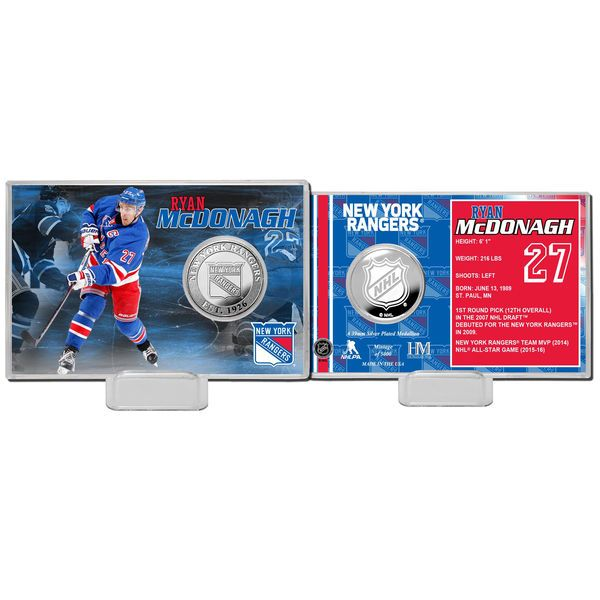 Ryan McDonagh New York Rangers Highland Mint Player Coin Card - $19.99