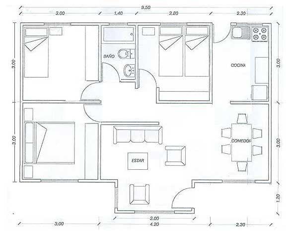 40+ Planos de casas de 60m2 con medidas inspirations