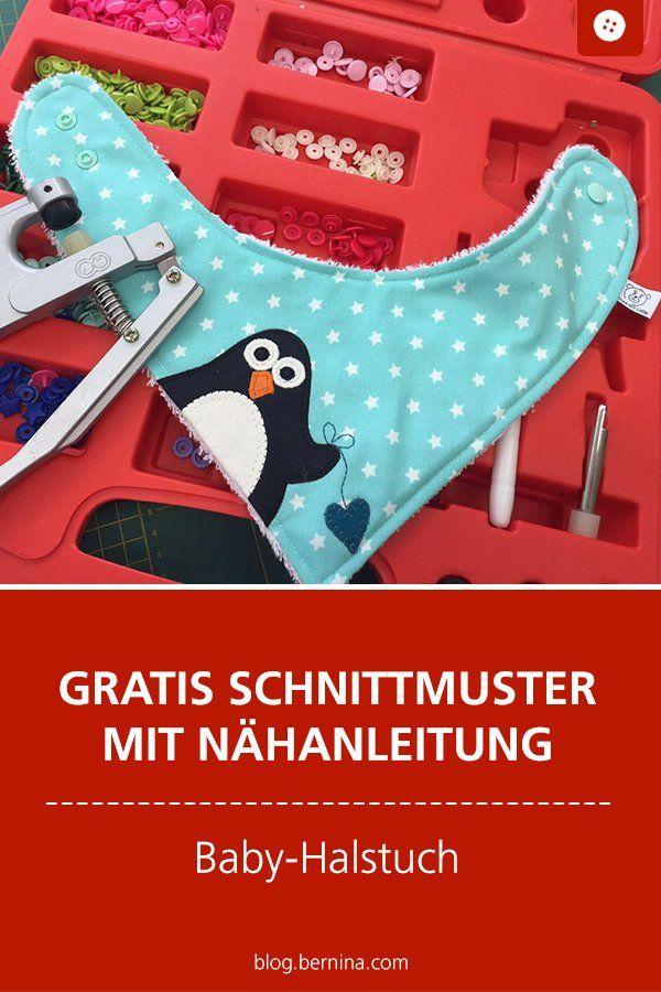 BERNINA Challenge: Nähen ohne Zuschnitt? Ein Pinguin-Babyhalstuch zum Verlieben! – Daniela