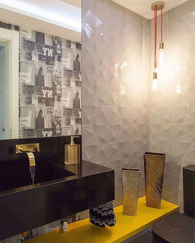 Detalhes modernos pedem um revestimento altura a pesi for Azulejos para lavabos