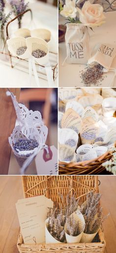 45 Romantic Ways to decorate your wedding with lavender - Lavender Confetti!