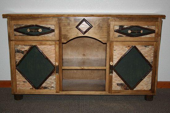 ADIRONDACK  STAND - Rustic Night Stand - Adirondack Furniture by BarnWoodFurniture72 on Etsy
