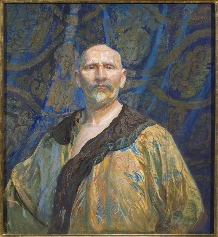 Leon Wyczółkowski, Autoportret w chińskiej szacie męskiej półoficjalnej longpao (Autoportret w chińskim kaftanie) (1911)