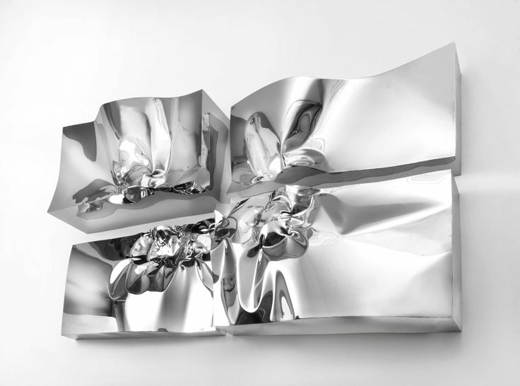 High Relief wall sculpture in stainless steel - Helidon Xhixha 2014