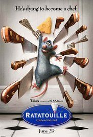 Ratatouille - A rat named Remy dreams of becoming a great French chef despite his family's wishes and the obvious problem of being a rat in a decidedly rodent-phobic profession. When fate places Remy in the sewers of Paris, he finds himself ideally situated beneath a restaurant made famous by his culinary hero, Auguste Gusteau.