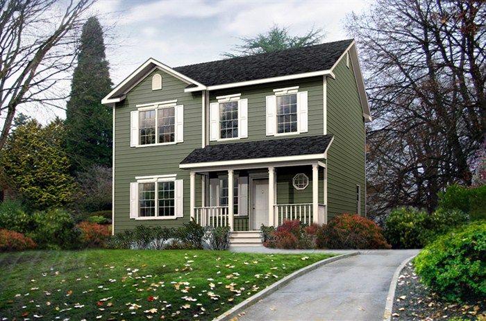 two story modular home crest 58cst28303am 1626. Black Bedroom Furniture Sets. Home Design Ideas