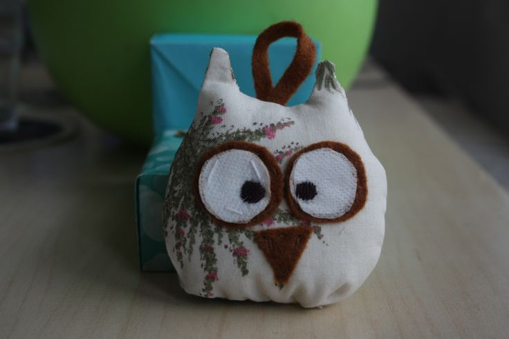 owl sew key chain