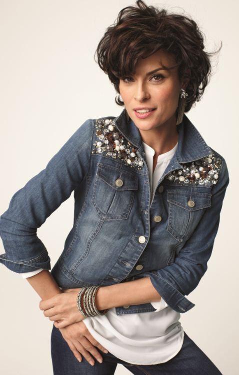 Dazzle Denim Jacket #Fall #Lookbook #chicos