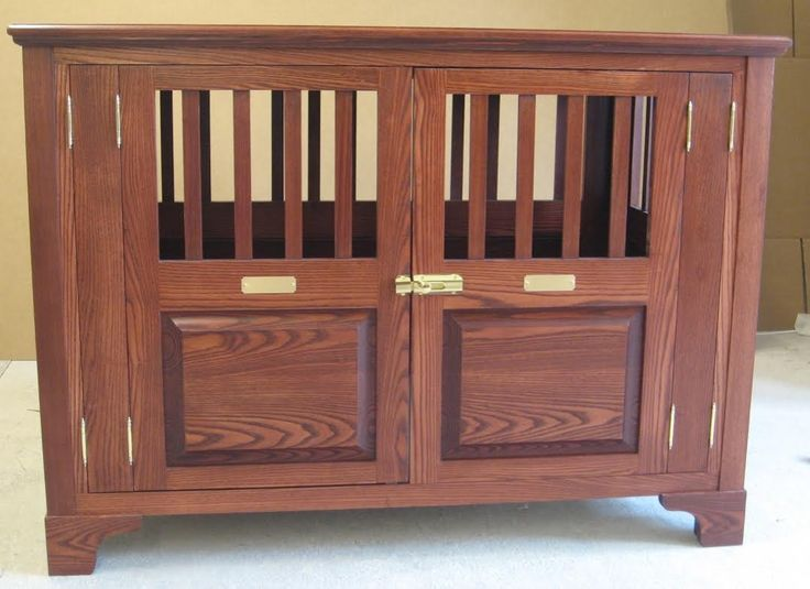 Classy Pet Side-Entry Fully Opening Wood Dog Crate
