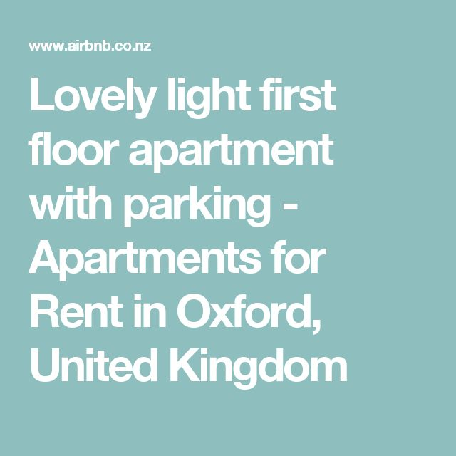 Lovely light first floor apartment with parking - Apartments for Rent in Oxford, United Kingdom