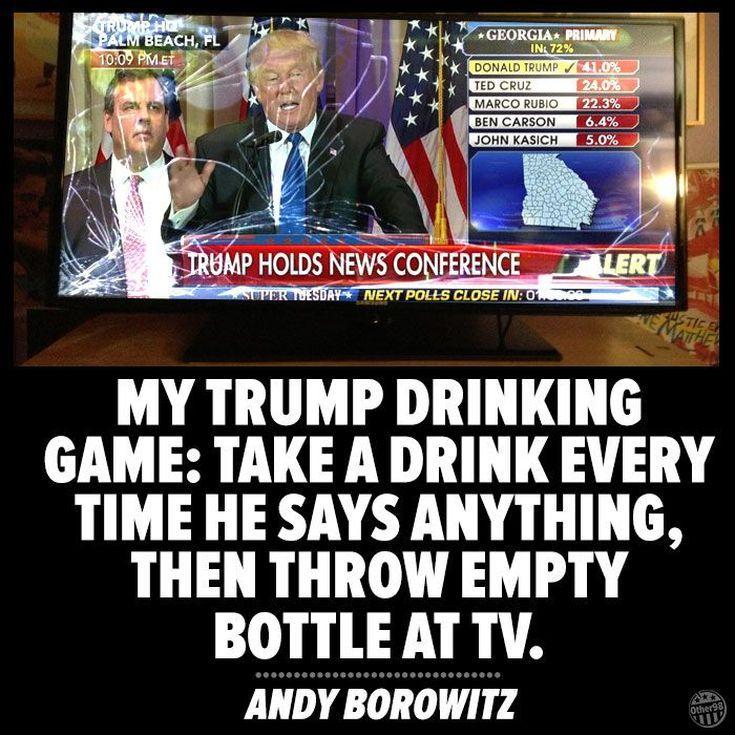 Funniest Presidential Debate Memes: Trump Drinking Game