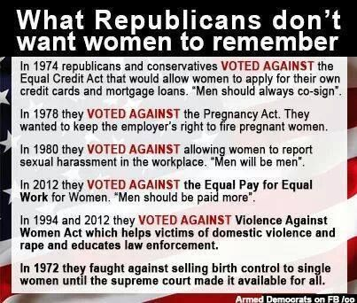 Women who vote Republican are voting against their own interests.
