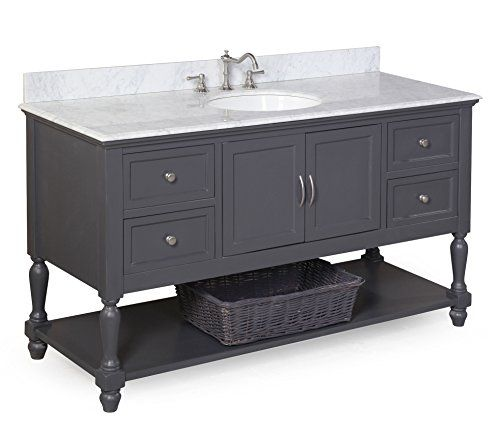 Image Gallery Website Special Offers Cheap Kitchen Bath Collection KBCGYCARR Beverly Single Sink Bathroom Vanity with Marble Countertop