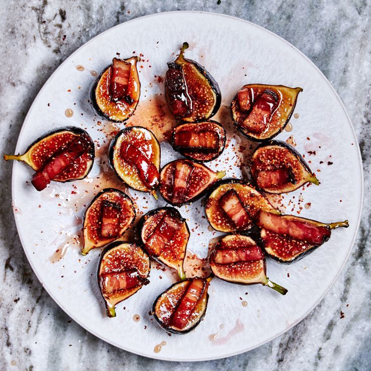 This figs recipe is sweet, salty, sticky, and acidic—everything you want in a one-bite appetizer.