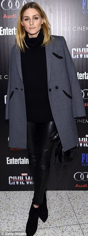Socialite and actress: Olivia Palermo and Jaimie Alexander wore all-black to the event