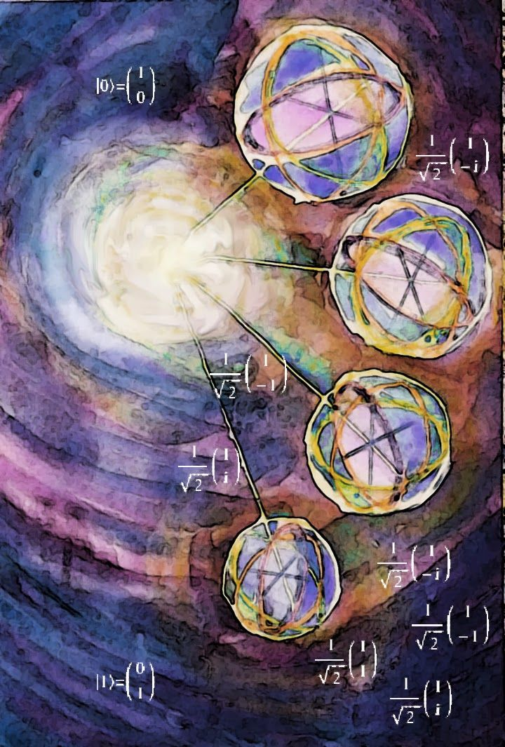 Quantum Computing for beginners An Exaltation of Qubits Watercolour, crayon and Photoshop™ ©2014 Charlene Brown, 1150 Words