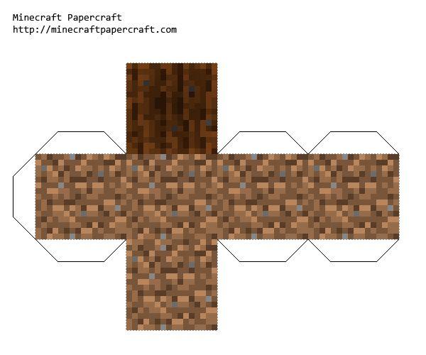 Papercraft Farmland Wet Minecraft Blocks Minecraft Printables Diy Minecraft
