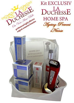 We are celebrating the first listing of our products on ebay with a 10% discount!  Chose Your Summer Personal Facial HOME SPA from below or from our shopping site:  http://laduchesse.shopmania.biz/cumpara/kit-exclusiv-la-duchesse-home-spa-cool-summer-breeze-intense-3594305