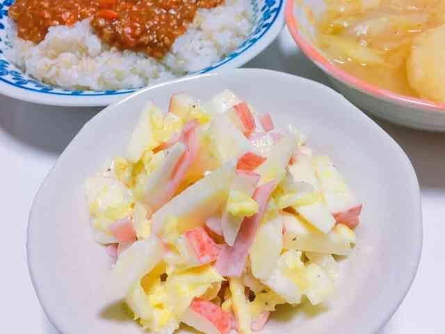 【超簡単☆一品】白菜とりんごのサラダの画像