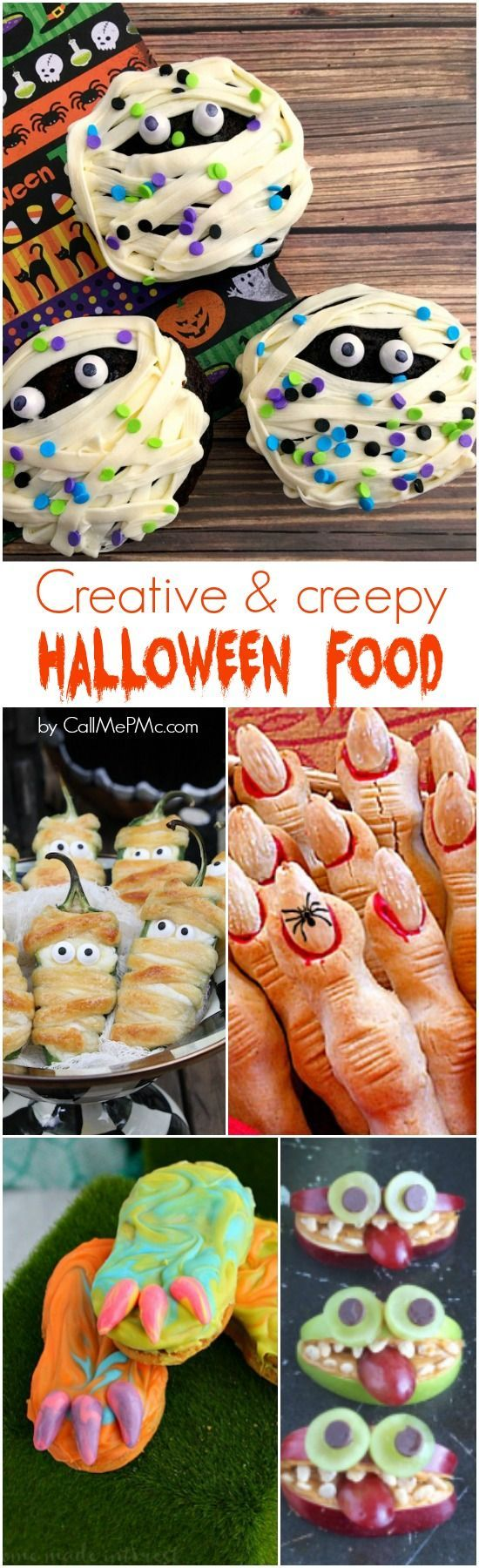Kids and adults alike love Creative Creepy Halloween Food. Have fun reviewing the recipes below and make them for your Halloween parties or kids' snacks.
