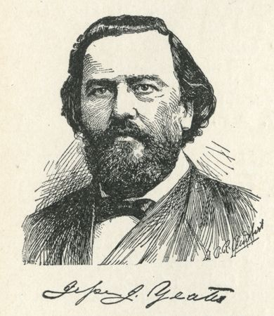 Engraving of Jesse Johnson Yeates, from <i>The National Cyclopaedia of America Biography</i>, Vol. 13, published 1906.  From the collections of the State Library of North Carolina.