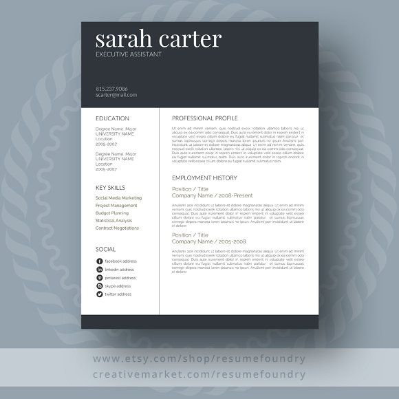 207 Best Resume Templates [Many Free] Images On Pinterest | Resume