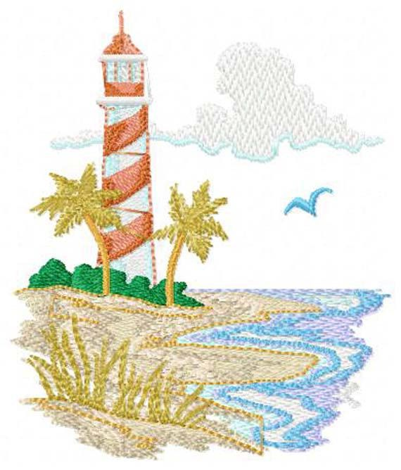 10 Best Beach Embroidery Designs Images On Pinterest Machine