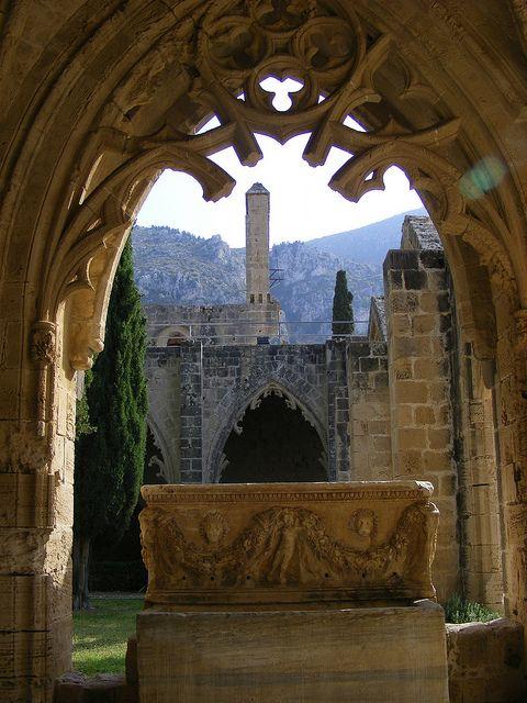 Bellapais Abbey, Northern Cyprus. http://www.cyprusluxurydestinations.com #weddings #weddingplanner #northcyprus #apartments #villas #travel #honeymoons #spas #weddingveil #lingerie #hair