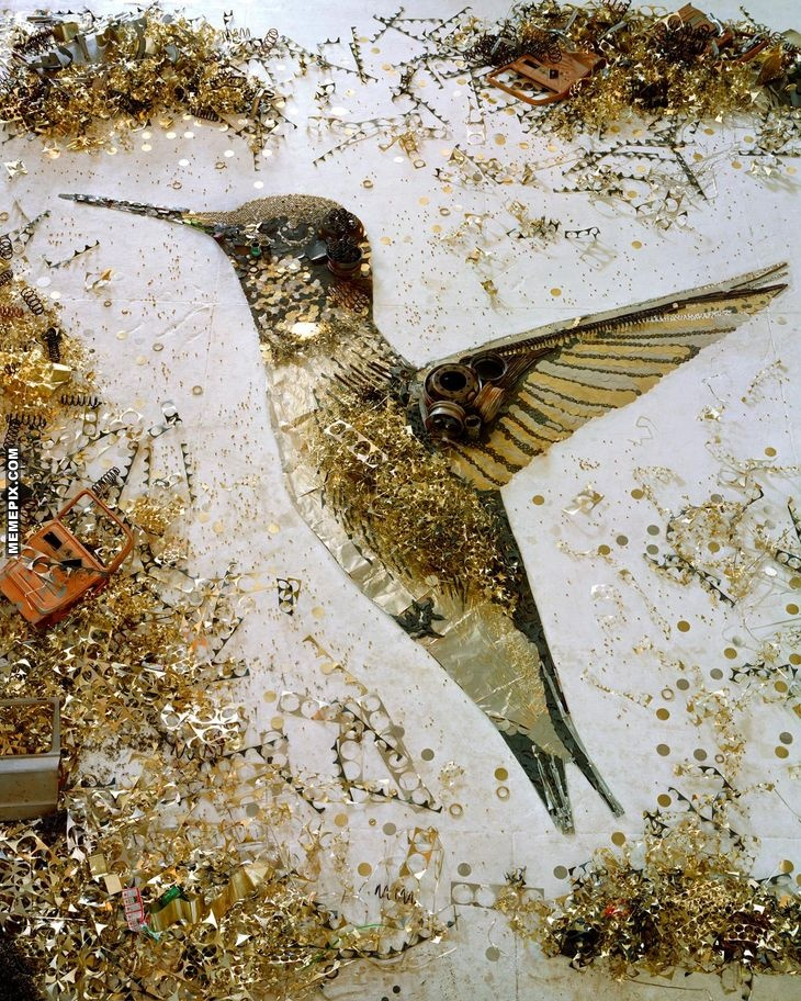 Scrap Metal Humming Bird: Vik Muniz - MemePix