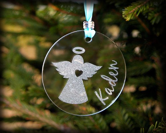 personalized angel ornament by wildgreenrose on etsy 12 00