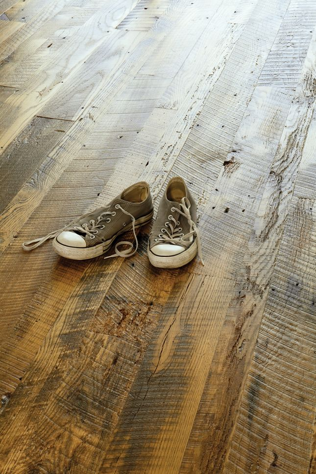 Hardwood floors have so much more character if you can make them from reclaimed wood.