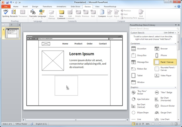 1000 images about wireframe tools on pinterest studios for Powerpoint wireframe template for ui design