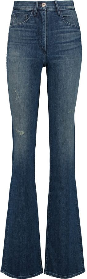 3x1 High-rise bootcut jeans