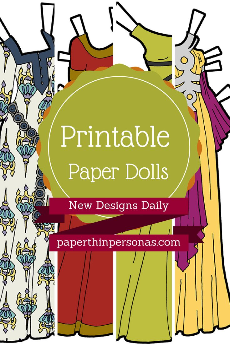 Free printable paper dolls from paperthinpersonas. Hundreds of different dolls and designs.