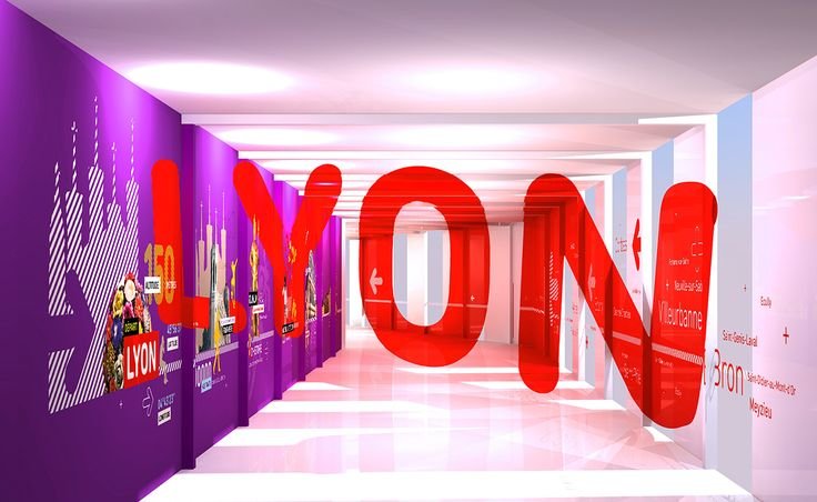 Lyon Airport anamorphic signage on Behance