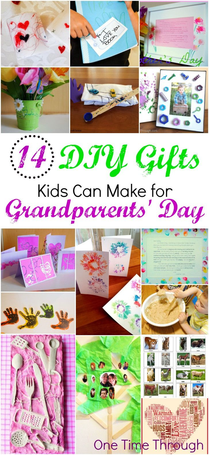 14 DIY Gifts for Grandparents Day from One Time Through