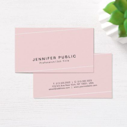 Modern Plain Glamour Premium Silk Finished Luxe Business Card - consultant business job profession diy customize