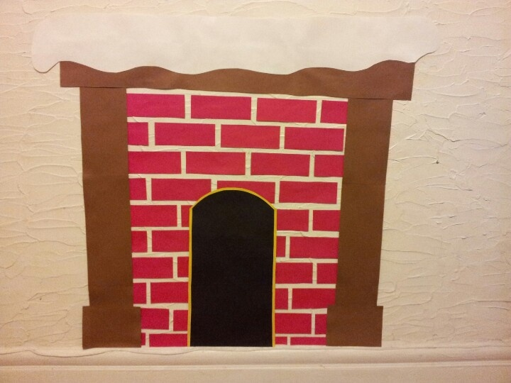 Construction Paper Amd Glue Make Your Own Fireplace